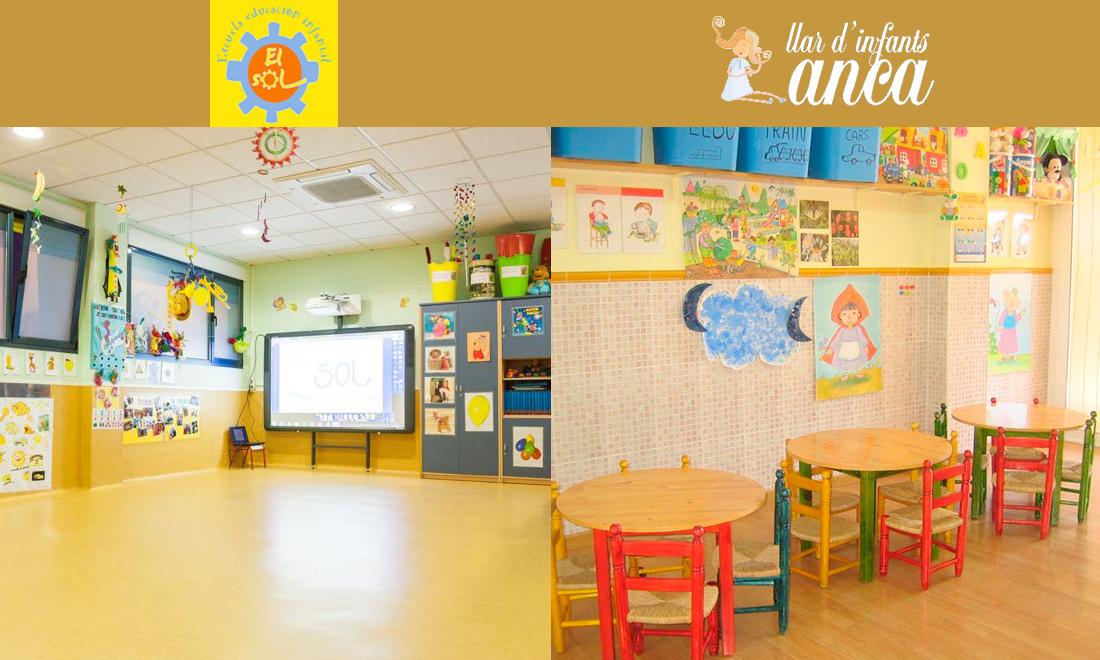 Nuevos centros TET El Sol y El Llar d´ Infants Anca